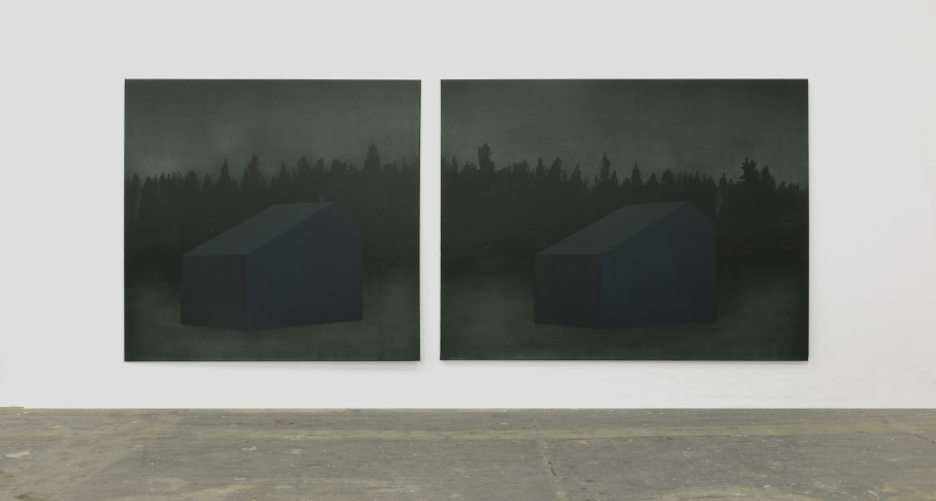 Double landscape, Oil on canvas,150x360cm (150x160cm, 150x200cm), 2011