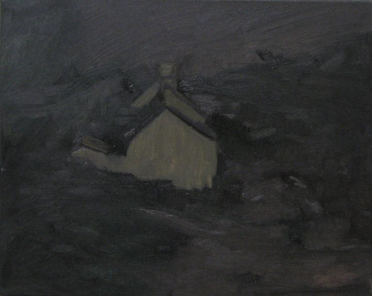 hard boiled nicht, Oil on canvas, 40 x 50 cm, 2013