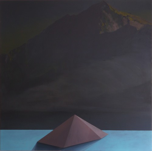 Two Mountains, Oil on canvas,180x180cm, 2013