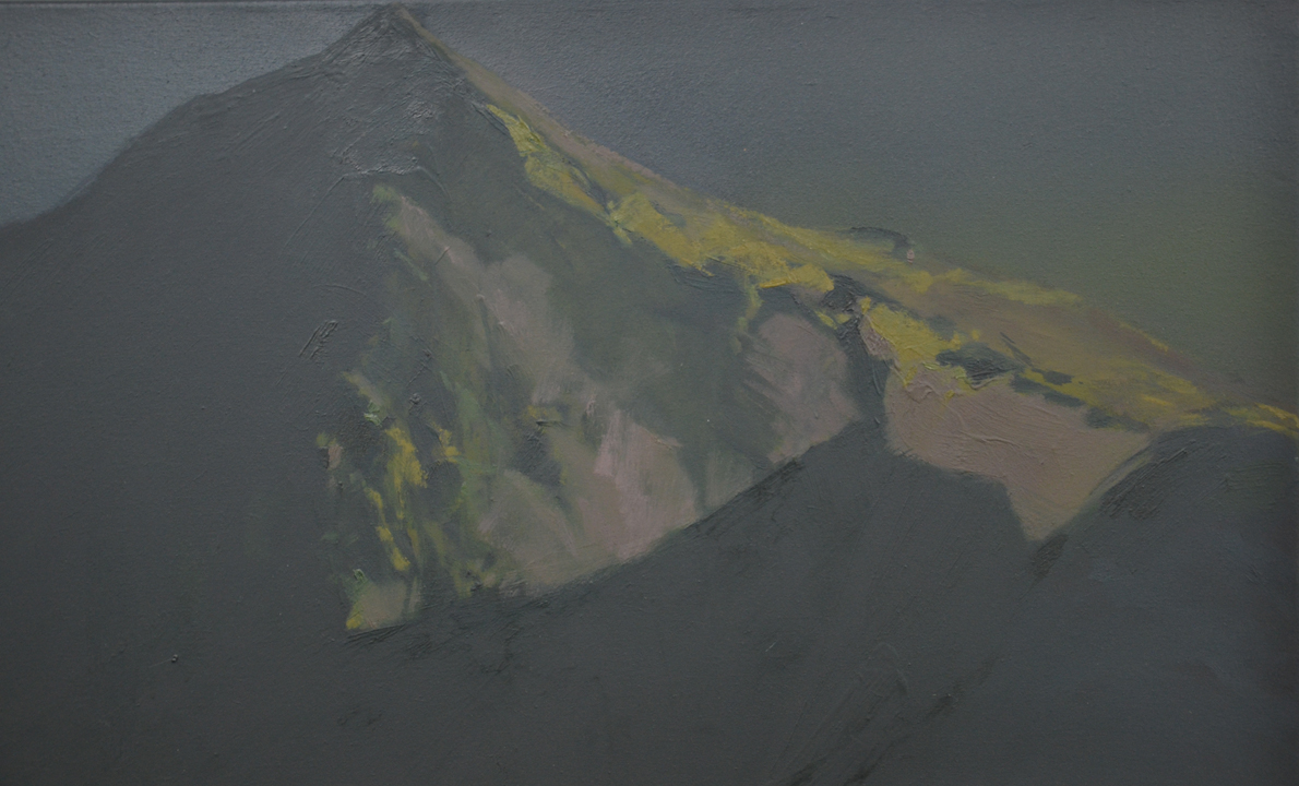 Two Mountains, Oil on canvas, 180x180cm, 2013